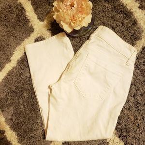 BOGO 💕Loft 25/0 modern crop white jeans